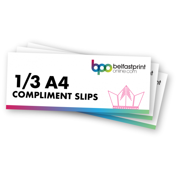 Belfast Print Online 1/3 A4 Compliment Slips Litho