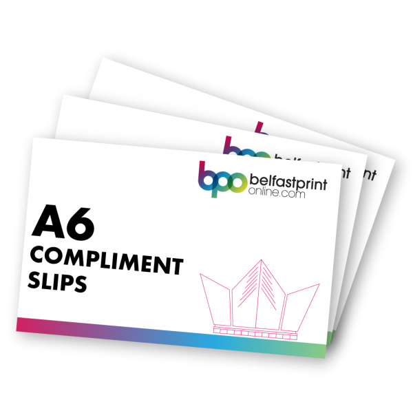 Belfast Print Online A6 Compliment Slips Litho