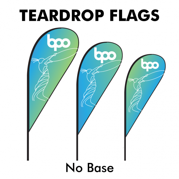 Belfast Print Online - Printed Teardrop Flags 115gsm - No Base