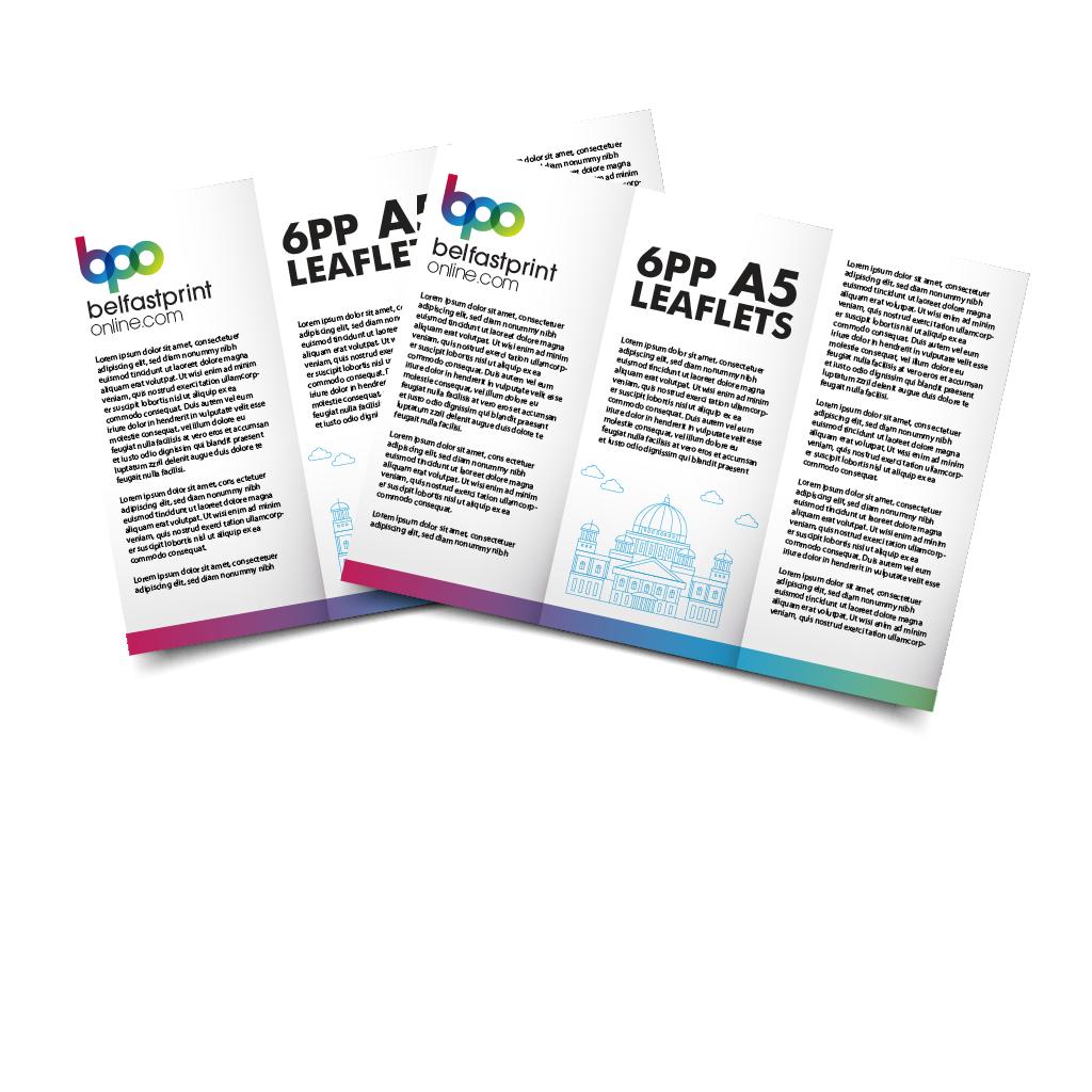 Belfast Print Online 6pp A5 Leaflets Litho