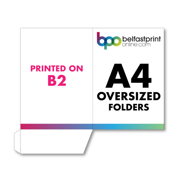 A4 Oversized Folders Printed On B2