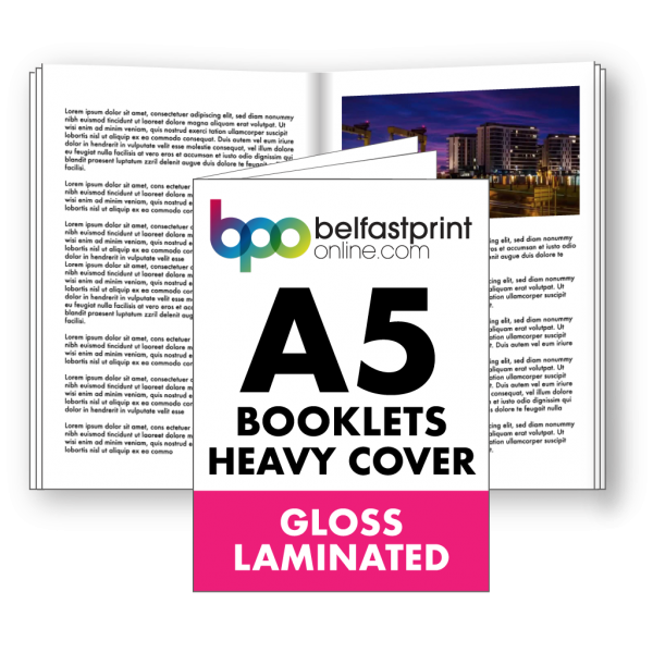 Belfast Print Online A5 Booklets Heavy Cover Gloss Laminated Litho