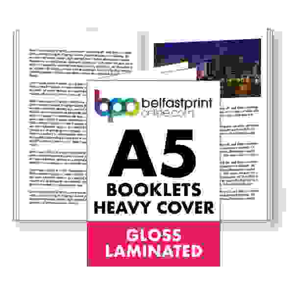 A5 Booklets Heavy Cover Gloss Laminated
