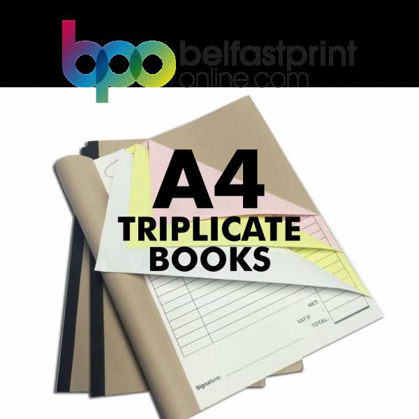 Belfast Print Online - A4 Triplicate Books