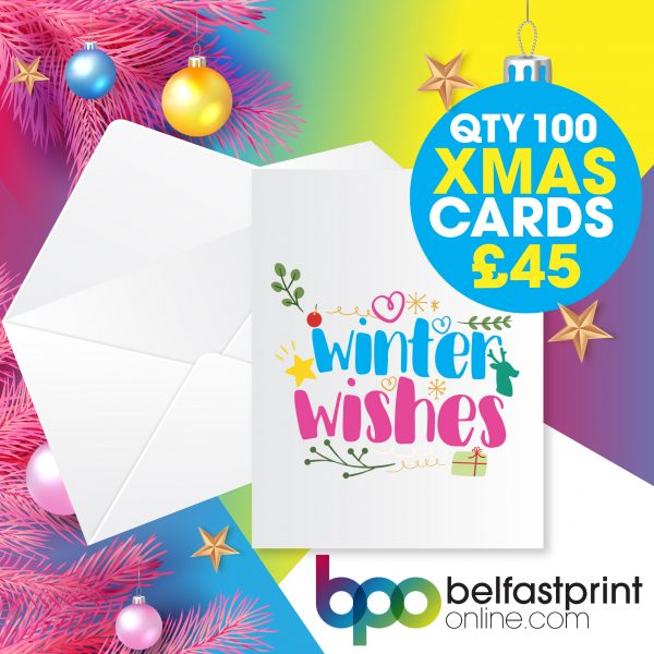 Belfast Print Online - Christmas Cards Offer Qty x 100 - £45