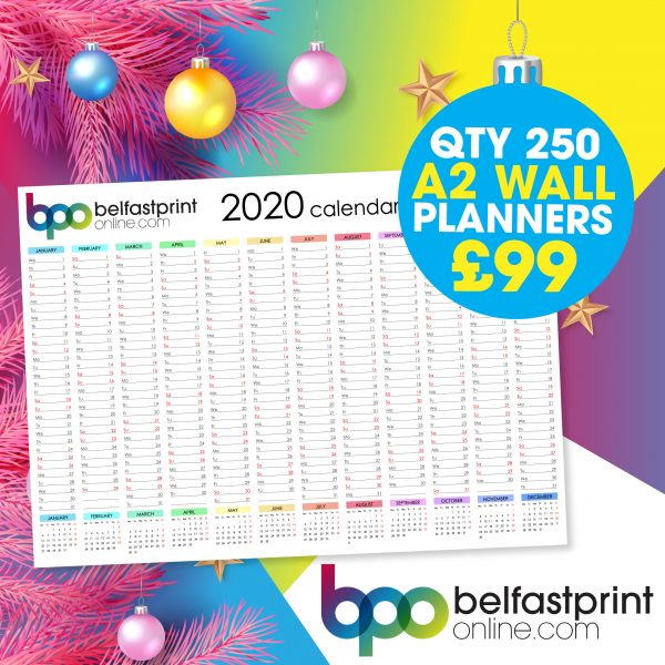 Belfast Print Online - A2 Wall Planners Offer Qty x 250 - £99