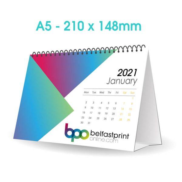 Custom Printed A5 Desk Calendars - Belfast Print Online