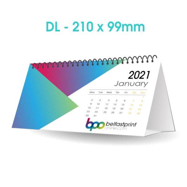 Custom Printed DL Desk Calendars - Belfast Print Online