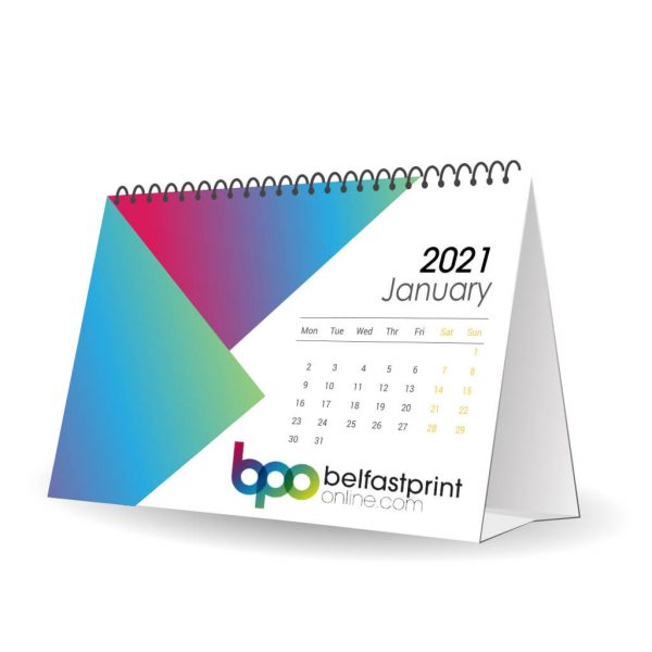 Custom Printed A5 Desk Calendars - Belfast Print Online