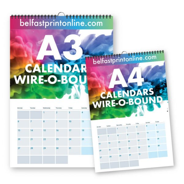 Custom Printed Wire Bound Calendars - Belfast Print Online