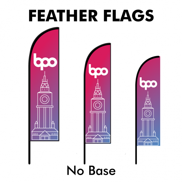Belfast Print Online - Printed Feather Flags - No Base