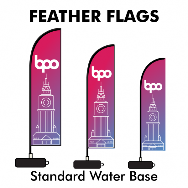 Belfast Print Online - Printed Feather Flags - Standard Water Base