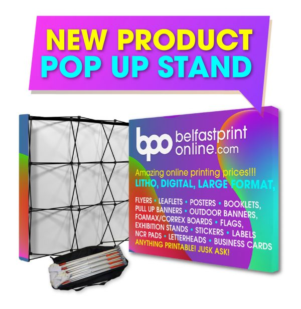 Fabric Pop Up Stand - Custom Printed Exhibition Stands - Belfast Print Online