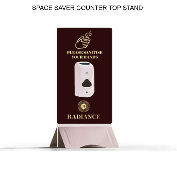 Space Saver Sanitising Station - Counter Top - Belfast Print Online