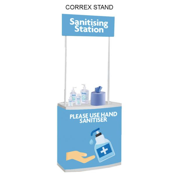 Coronavirus Custom Hand Sanitiser Station - Please use hand sanitiser- Belfast Print Online