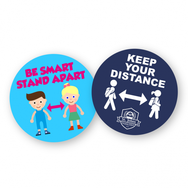 COVID-19 School Child Friendly Floor Stickers - Belfast Print Online