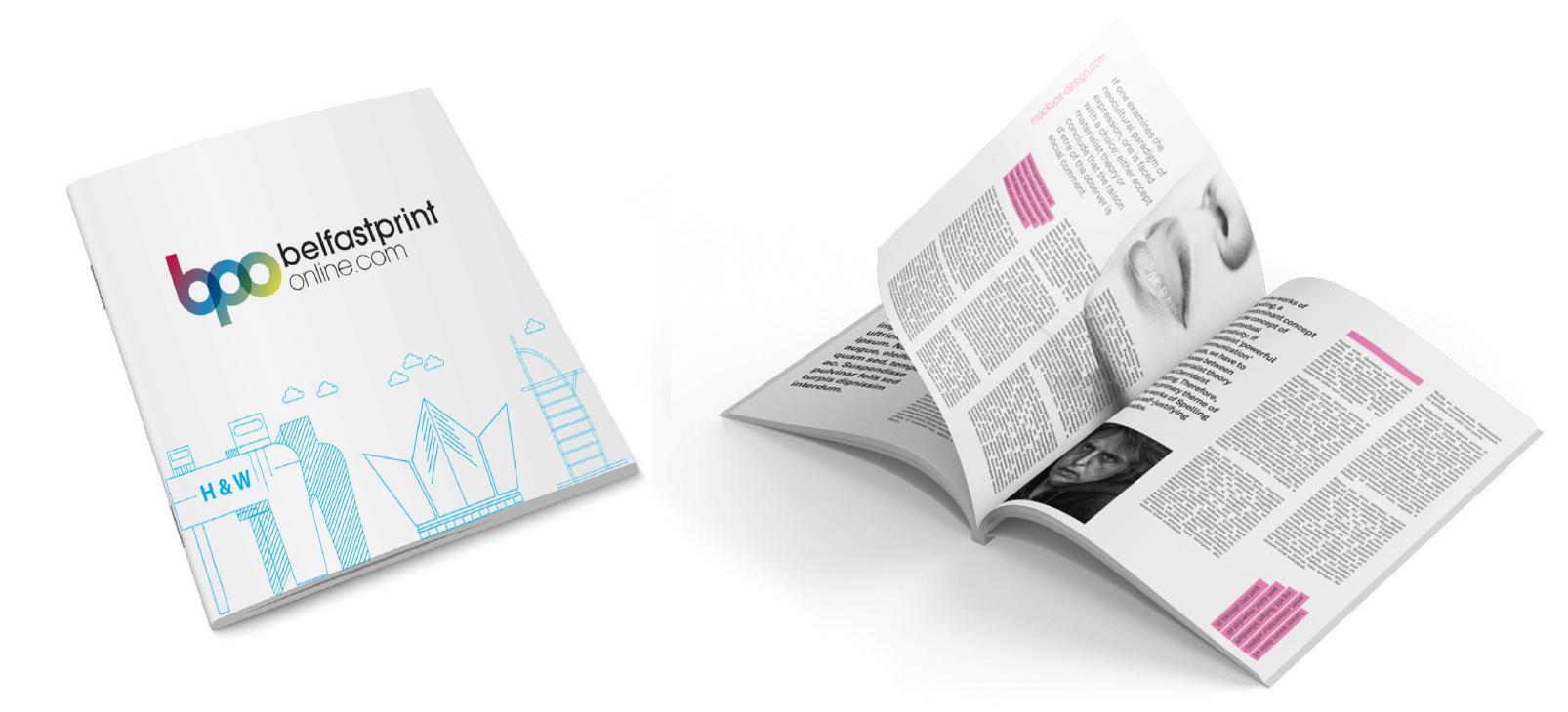 Booklet Printing Belfast - Saddle Stitch (Stapled), Perfect Bound, Wire Bound - Belfast Print Online