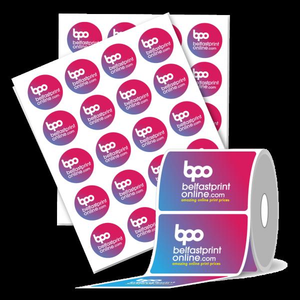 Paper Stickers on Sheet or Rolls - Belfast Print Online - Free Deilvery
