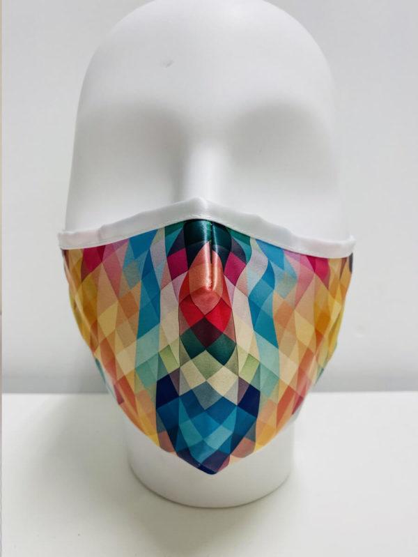 Printed Full Colour Satin Face Covering Mask - Belfast Print Online