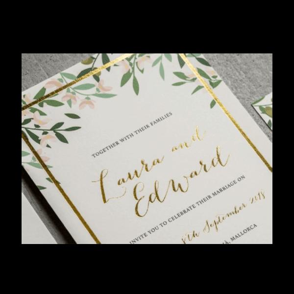 Luxury Foil Printing for Weddings - Belfast Print Online