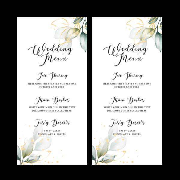 Wedding Menus - Belfast Print Online