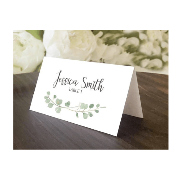Wedding Place Name Cards - Belfast Print Online