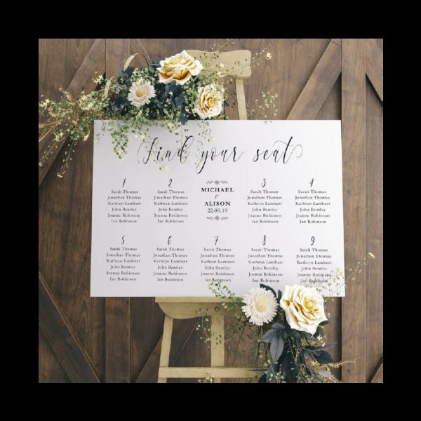 Wedding Table Plans - Belfast Print Online